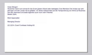22.05 - Event Fundbase Holding AG