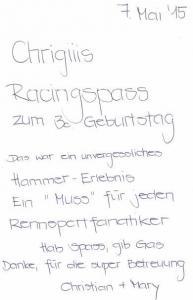 07.05 - Chrigiiis Racingspass